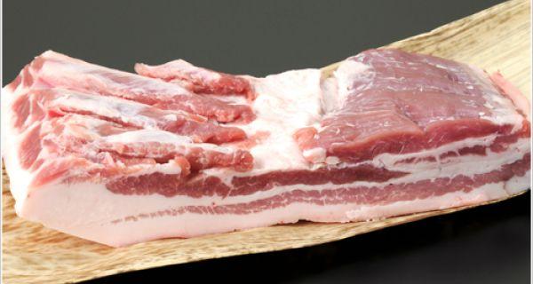 【豚肉】和豚もちぶた バラ ブロック 1kg (eco包装)