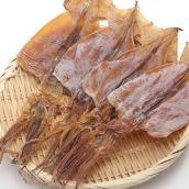 肉厚スルメイカ (中) 5枚入1枚約60g 北海道前浜産 生するめいか加工