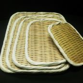 竹製 角盆ざる 30㎝