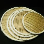 竹製 丸盆ざる 36㎝