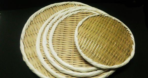 竹製 丸盆ざる 45㎝
