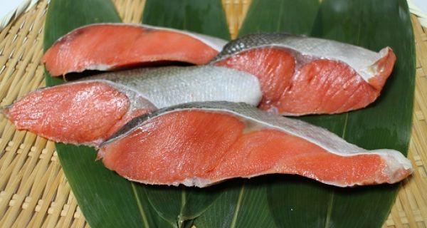 天然紅鮭 辛口 切り身 4切入パック - 画像1