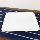 野田琺瑯 バット 全白 ホワイト 21取