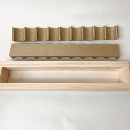 木製 幕の内押し型 9穴 - 画像3