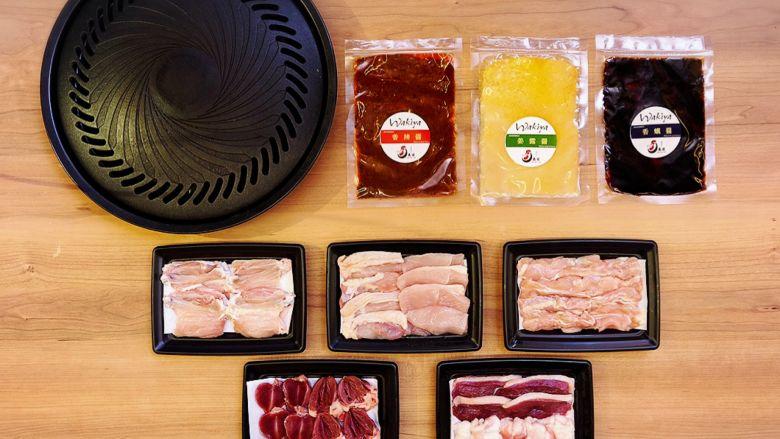 【鳥藤の焼き肉】Wakiya×鳥藤 とり焼肉セット 5種の鶏肉と3種の醤 ※焼き肉用鉄板付き - 画像2